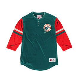 Mitchell & Ness MIAMI DOLPHINS HOME STRETCH HENLEY 2.0