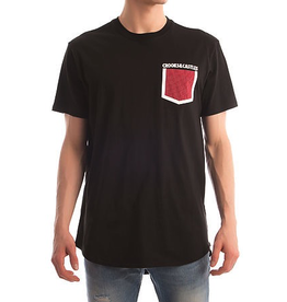 CROOKS & CASTLES BLACK STONEWALL POCKET TEE
