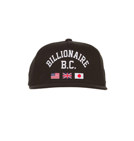BILLIONAIRE BOYS CLUB Black BC Snapback Hat