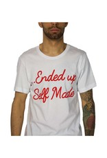 SELFMADE WHITE & RED ENDED UP SELF MADE TEE