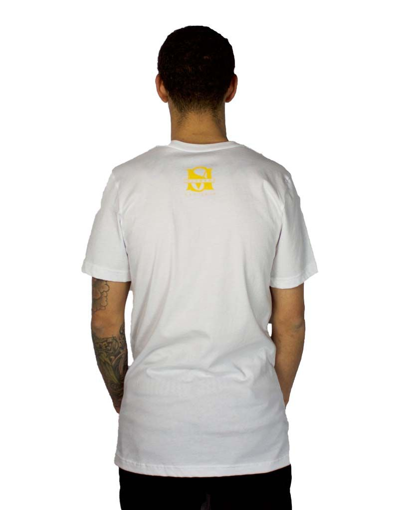 SELFMADE WHITE & YELLOW ENDED UP SELF MADE TEE