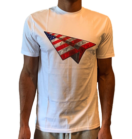 PAPER PLANES White American Dream Bevel Tee
