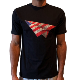 PAPER PLANES BLACK AMERICAN DREAM BEVEL TEE