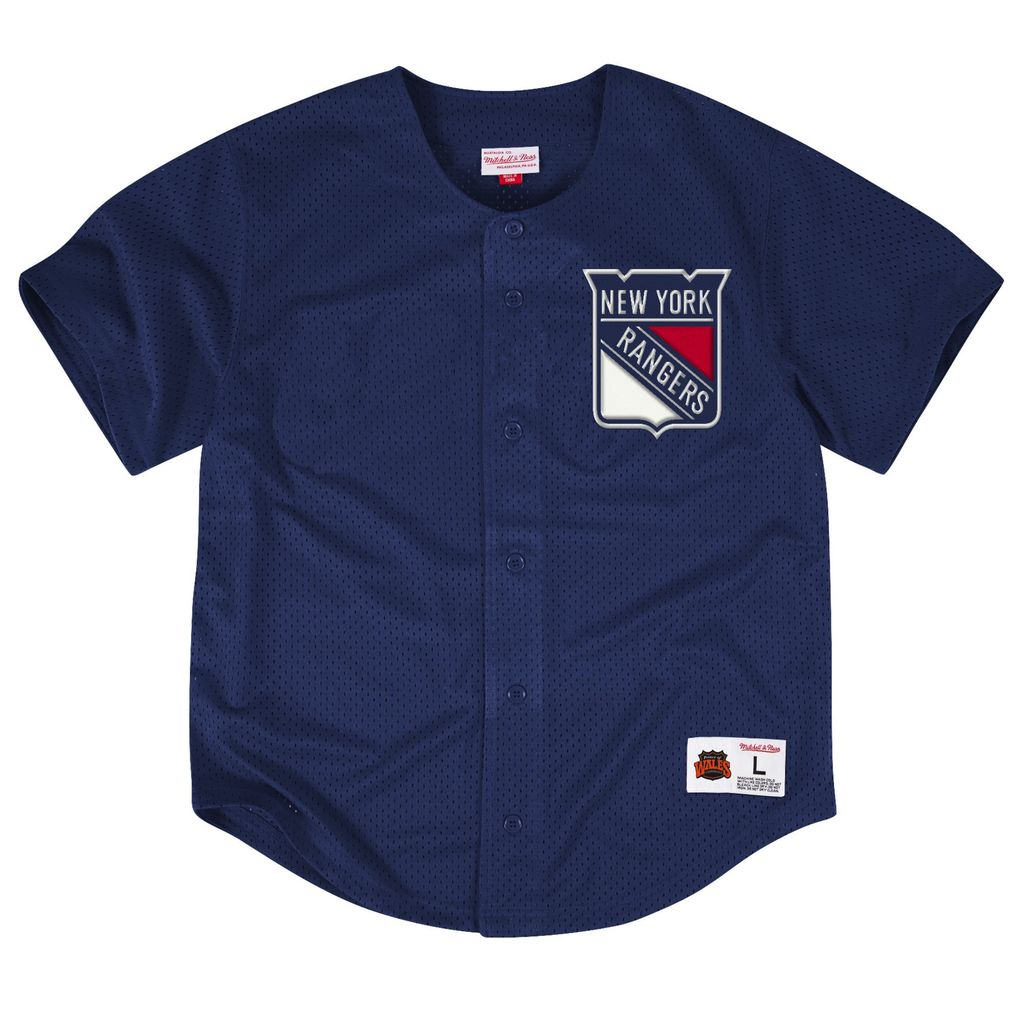 newest 1ea12 07160 NEW YORK RANGERS NHL MESH BUTTON FRONT