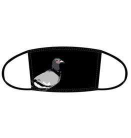 STAPLE BLACK PIGEON FACEMASK