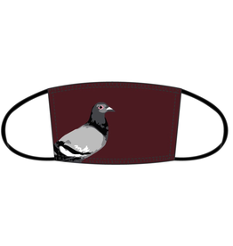 STAPLE BURGUNDY PIGEON FACEMASK