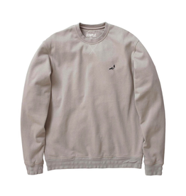 STAPLE GREY GARMENT WASH PIGEON CREWNECK