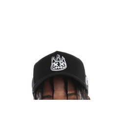 CULT OF INDIVIDUALITY MESH BACK TRUCKER CURVED VISOR - BLACK CROWN W/BLACK MESH