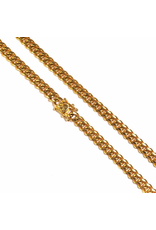 GOLDEN GILT 8MM MIAMI CUBAN