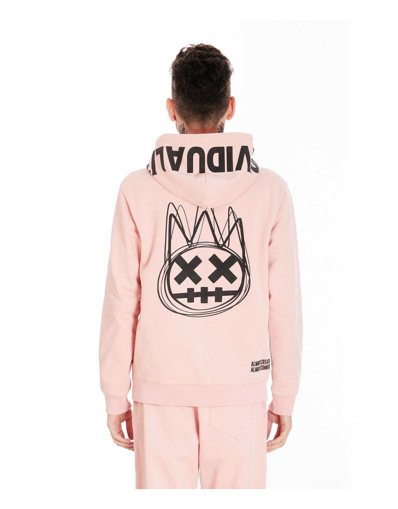 CULT OF INDIVIDUALITY ZIP HOODY IN SALMON