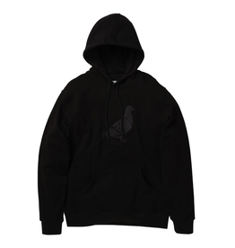 STAPLE BLACK GARMENT WASH PIGEON HOODIE