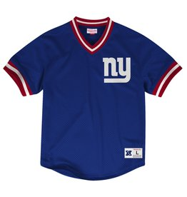 Mitchell & Ness NEW YORK GIANTS MESH V-NECK TOP