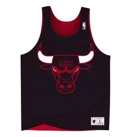 Mitchell & Ness CHICAGO BULLS DROP STEP REVERISBLE MESH TANK