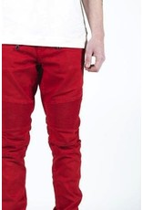EMBELLISH SPENCER BIKER DENIM (RED)
