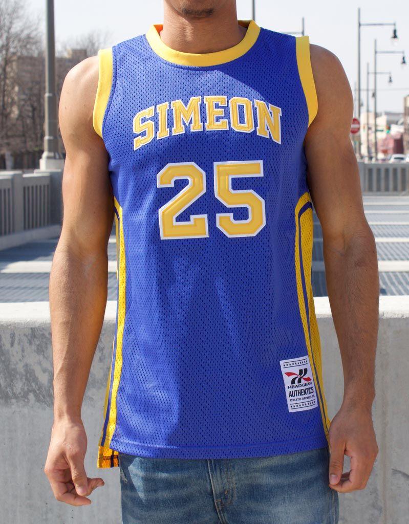 b106c81c6ae6 Headgear DERRICK ROSE CHICAGO SIMEON HIGH SCHOOL BASKETBALL JERSEY ...