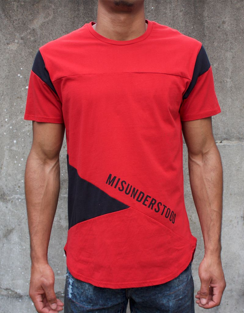 Entree LS RED MISUNDERSTOOD OLYMPIC COLOR BLOCK PANEL TEE