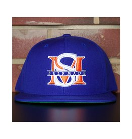 SELFMADE ROYAL BLUE & ORANGE & WHITE SELF MADE BOUTIQUE SNAPBACK