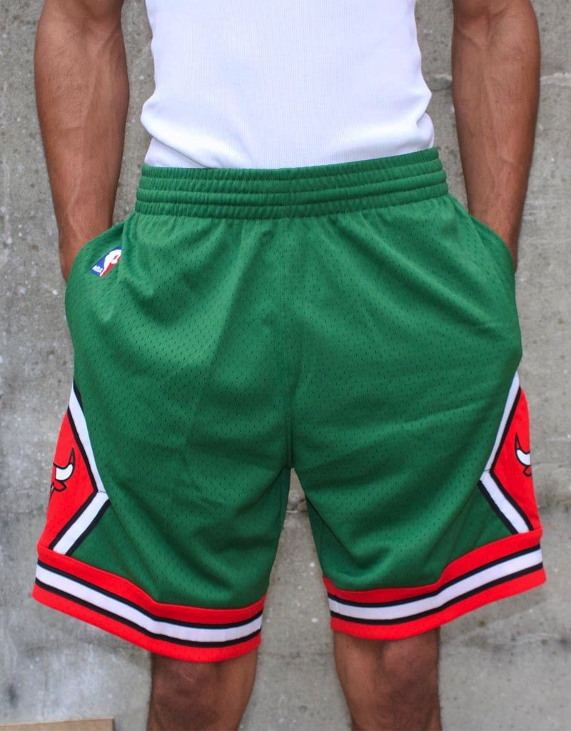 Mitchell   Ness GREEN CHICAGO BULLS SWINGMAN SHORTS - Selfmade Boutique 3ac7f4215d97