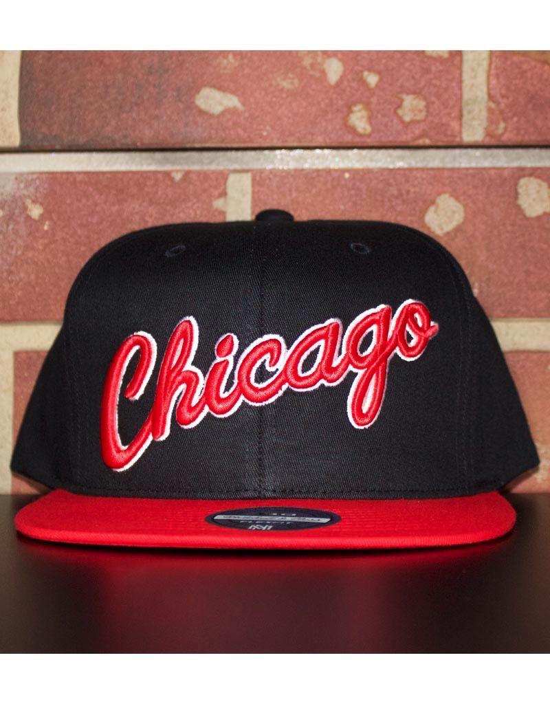 Mitchell & Ness CHICAGO BULLS WORDMARK 110 FLEX SNAPBACK