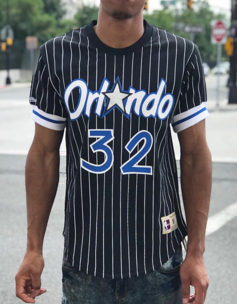 24a028cd603 Mitchell   Ness ORLANDO MAGIC SHAQUILLE O'NEAL MESH NAME   NUMBER CREW ...