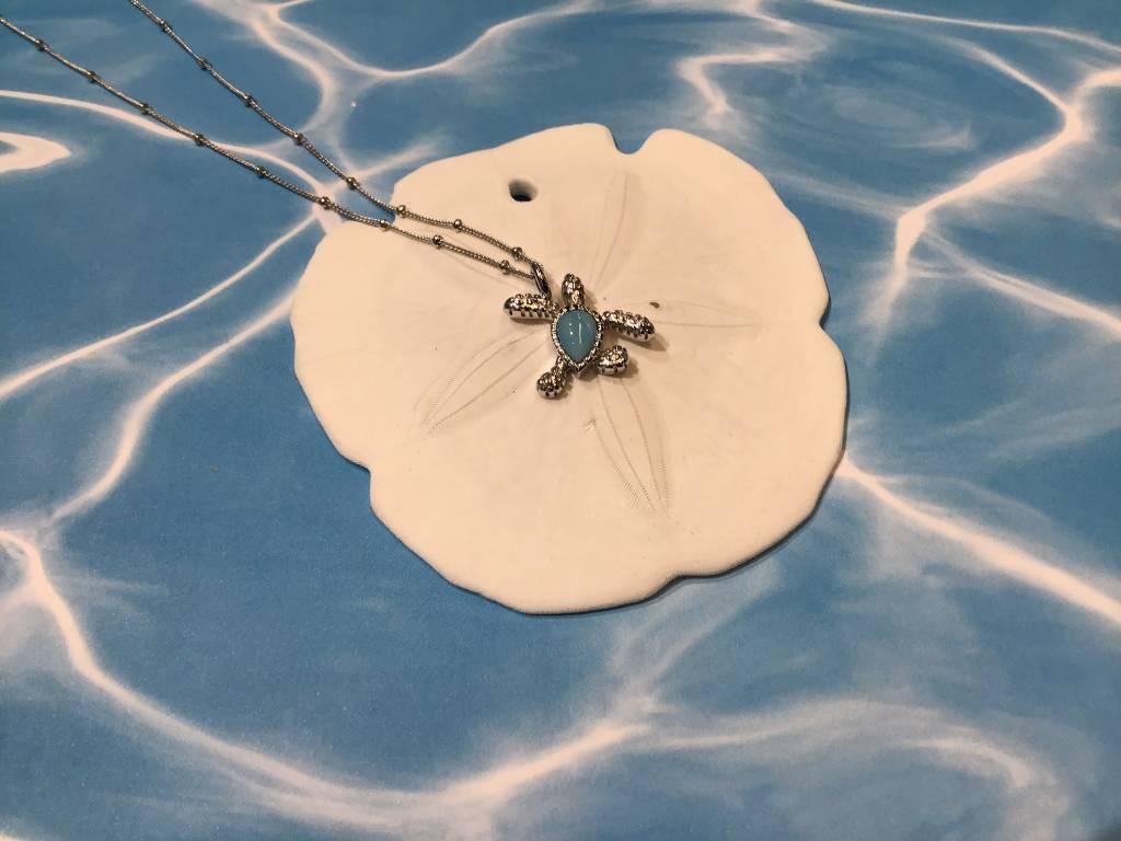 Larimar Turtle Necklace SS