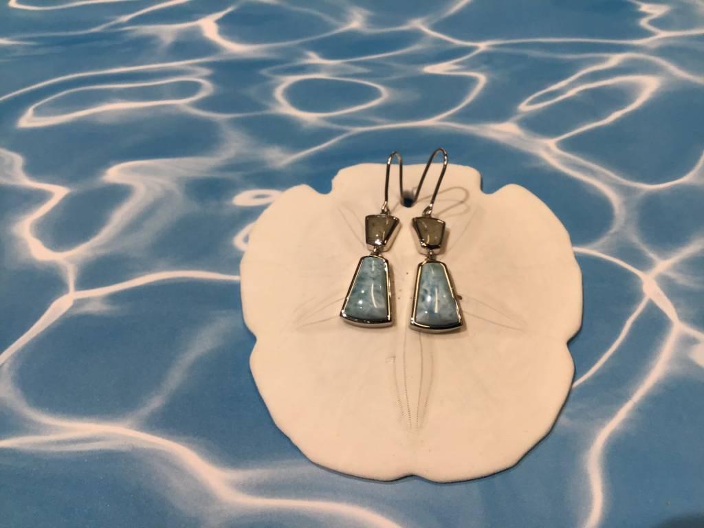 Larimar/MI  MM Drop earring