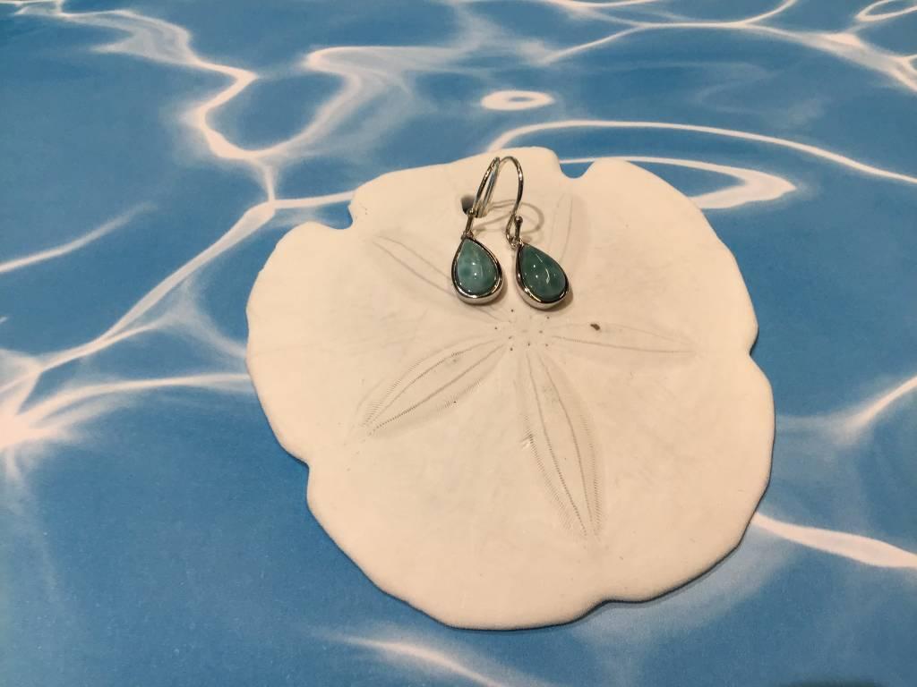 Larimar Petite Tear Drop earring