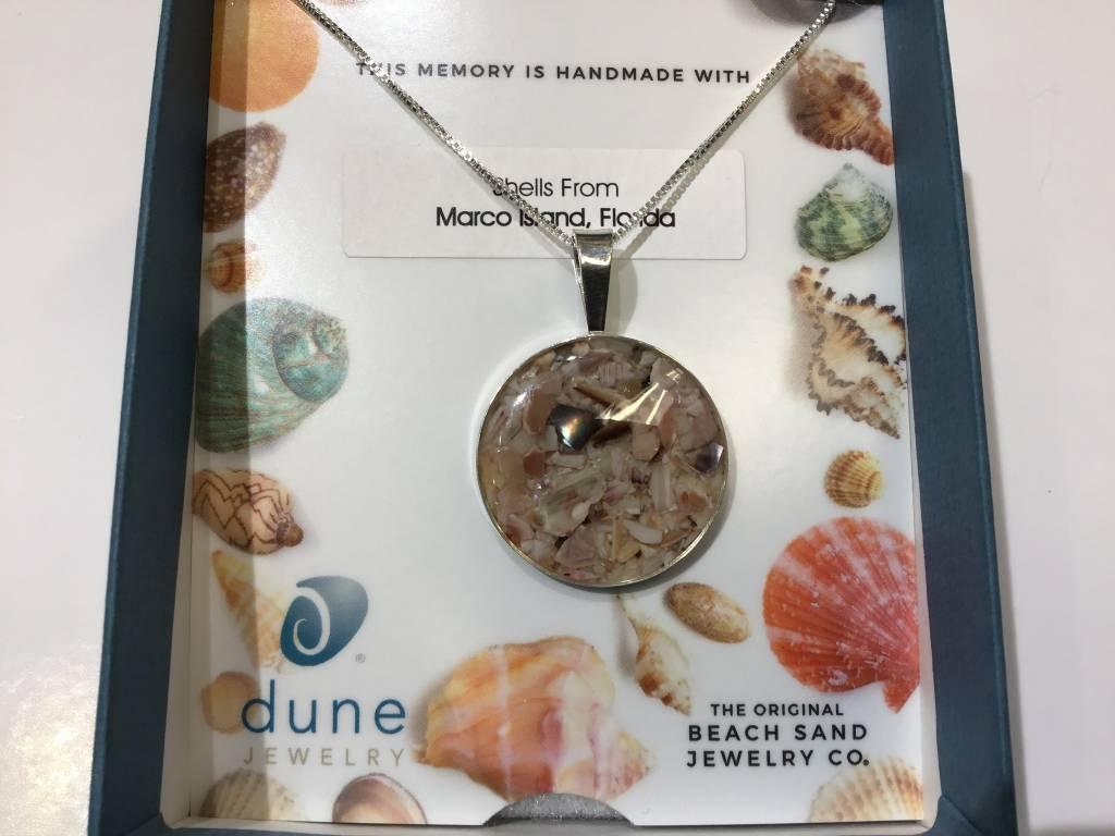 "Marina Necklace 18"" Sterling MI Shells"