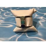 Deco Sandglobe Bracelet w/ Turquoise, Amazonite & Lapis