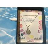 "Sandglobe Necklace 18"" SS Rose/MI sand"