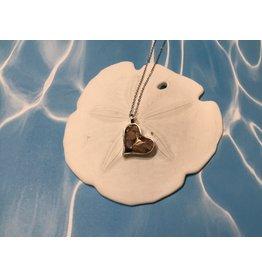 "Sand Jewel Necklace Heart MI Shells 16-20"""