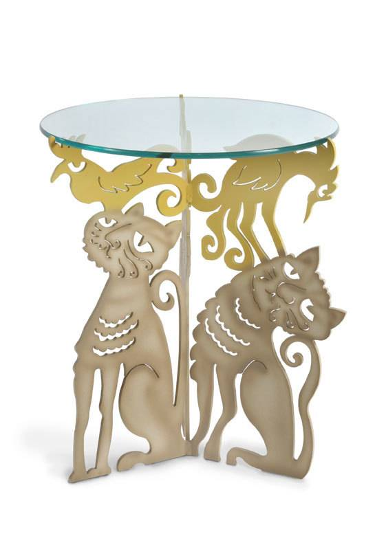 Cat Trio Table rustproof paint