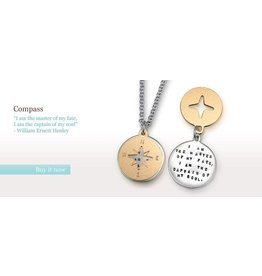 "Compass Henley 18"" Necklace"