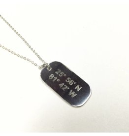 Lat Lo Mini Dog Tag SS