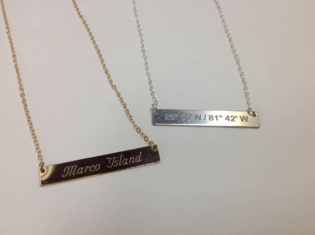 Lat Lo Bar Necklace SS (Horizontal)