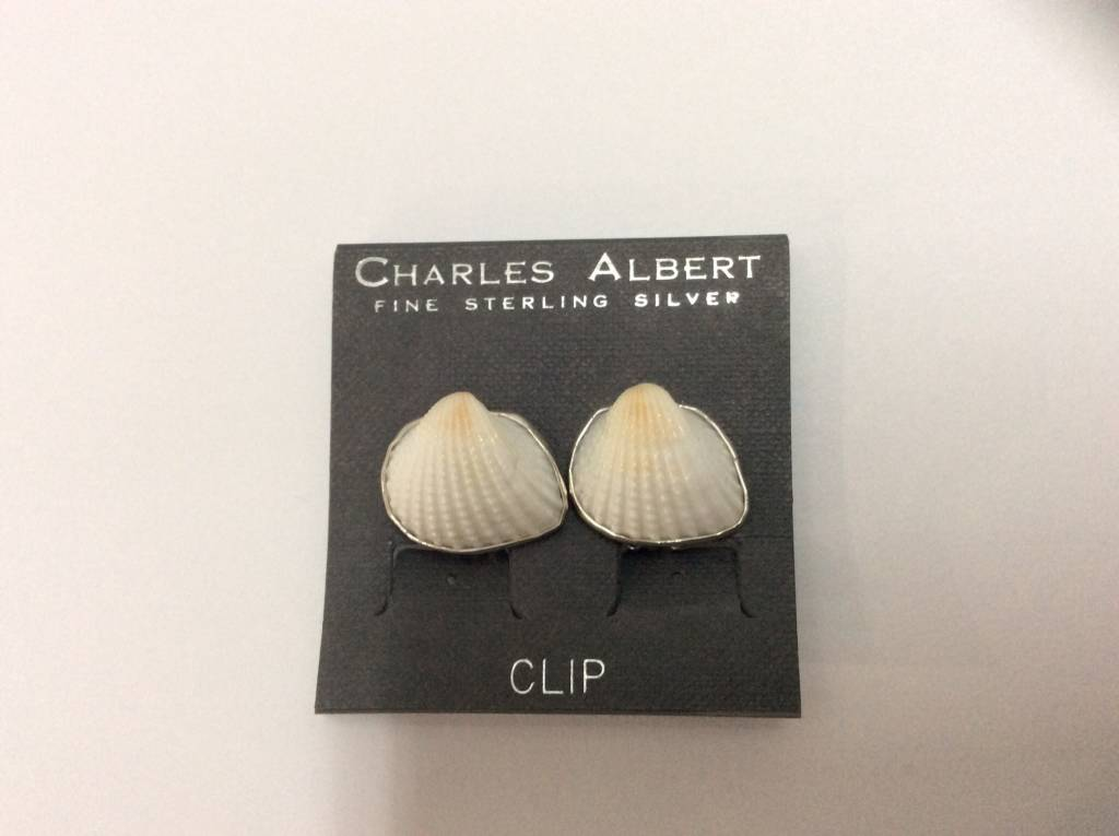 Shell Clip On Earrings