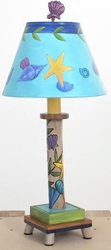 "Lamp Coastal Candlestick Milled 20"" H"