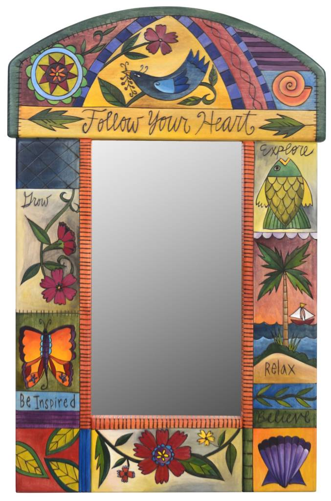 """Mirror Follow Your Heart w/ Rounded top (19""""x29"""")"""
