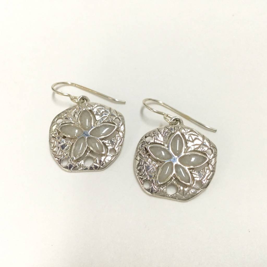 Marco Island sand Natural Sand Dollar Earrings SS