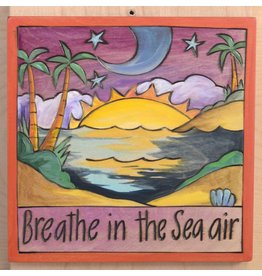 "'Breathe in the Sea Air' Art Plaque 7x7"""