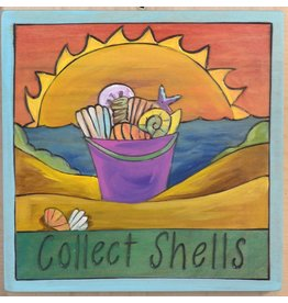 'Collect Shells' Art Plaque 7x7''