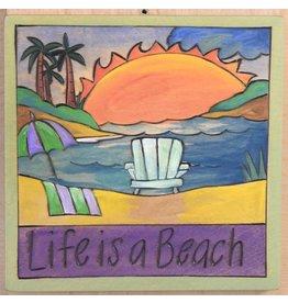"""'Life is a Beach' Art Plaque 7x7"""""""