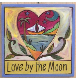 """'Love by the Moon' Art Plaque 7x7"""""""