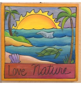 'Love Nature' Art Plaque 7x7""