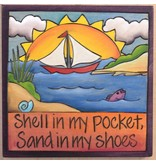 'Shell in my Pocket' Art Plaque 7x7""