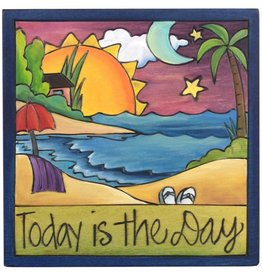 """'Today is the Day' Art Plaque 7x7"""""""