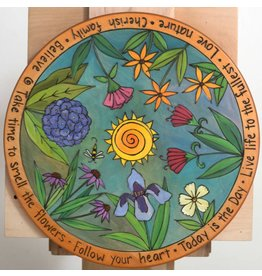 """Take Time to Smell the Flowers"" Lazy Susan 20""D"