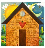 Cherish Family Plaque 24.5x24.5x3""