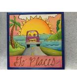 """'Go Places' Art Plaque 7x7"""""""