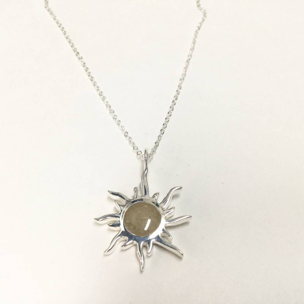 Sunburst Necklace w/ Marco Island Sand SS